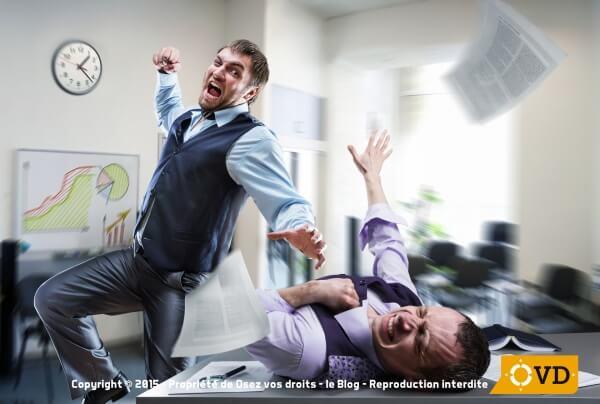 Les salariés peuvent malgré eux subir des périodes de violence au bureau