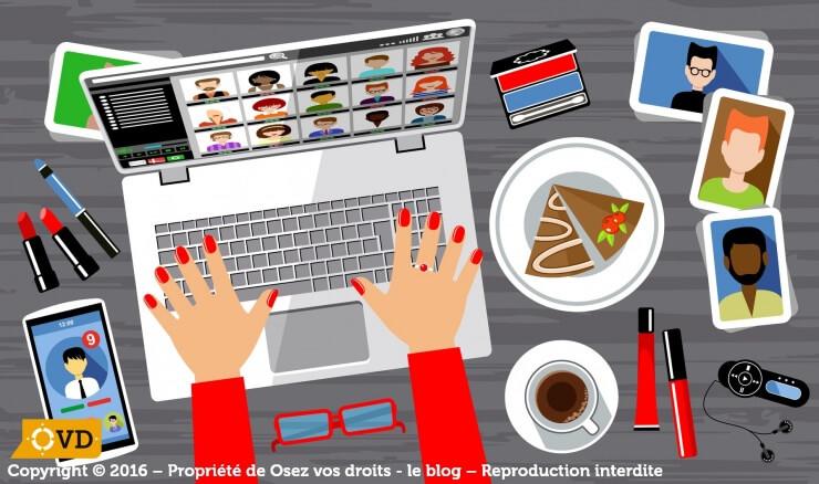 Les réseaux sociaux sur le lieu de travail sont de plus en plus présents.