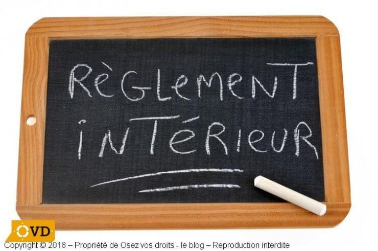 Le règlement intérieur d'entreprise