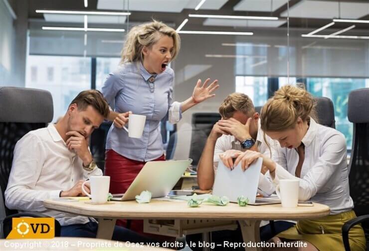 Un conflit entre collègues est une souffrance au travail.