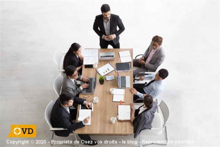 Réunion de travail du CSE